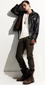 Schwarz Leather Jacket