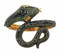 Snake gem ring