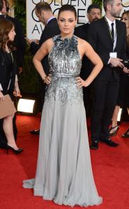 Mila Kunis wearing Gucci